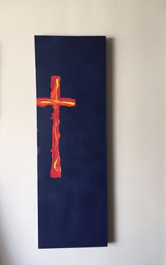 #cross #painting #art #AW #AndyAW #painter 12 x 36 inches