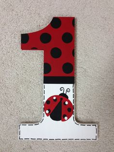 Ladybug  first birthday  photo prop  lady bug by TrendyTotsLetters