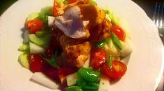 MIDDAG: Kylling på spyd med melonsalat. Opskrift: Spis dig slank 6, side 62