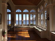 The view of the Delaware from the sun porch- Glen Foerd Mansion