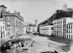 Plaza Nueva. Restos del derribo de la iglesia de San Gil. (1869)