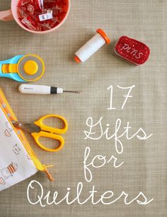 Gift ideas for sewers and quilters. A wide selection of notions, books, patterns, gadgets and links to tutorials for handmade gifts. Quilting Tools, Quilting Tutorials, Quilting Projects, Quilting Ideas, Quilting 101, Sewing Projects, Sewing Hacks, Sewing Crafts, Sewing Tips