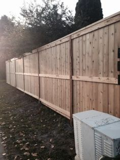 Fortress style cedar fence with 4x6 pressure treated posts for Fortress fence design