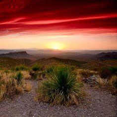 Sunrise over Big Bend Texas