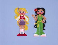 sandylandya@outlook.es  Cool Girls - Mädchen /   hama bead perler pattern - Bügelperlen