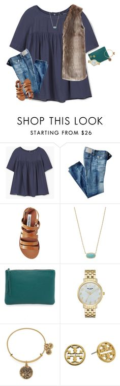 """""""As of right now.......read d⬇️"""" by moseleym ❤ liked on Polyvore featuring MANGO, AG Adriano Goldschmied, Steve Madden, Kendra Scott, Oliveve, Kate Spade, Alex and Ani, Tory Burch and Chicwish"""
