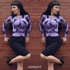 Ghost cardis are in stock now, and stay tuned t our account cuz more cardigans are arriving later today! Purple Cardigan, Sweater Cardigan, Pin Up Style, My Style, Modern Vintage Fashion, Cardigans, Sweaters, Pastel Goth, Stay Tuned
