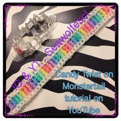 Rainbow Loom Easy, Rainbow Loom Bracelets Easy, Rainbow Loom Patterns, Rainbow Loom Creations, Rainbow Loom Bands, Diy Bracelets Easy, Rainbow Crafts, Loom Bracelet Patterns, Bead Loom Patterns