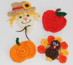 Pattern for Fall Crochet Appliques