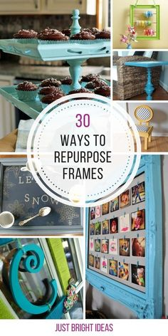 Amazing Ways to Repurpose Picture Frames You Need to See! These repurposing projects for old picture frames are genius! Thanks for sharing!These repurposing projects for old picture frames are genius! Thanks for sharing! Picture Frame Projects, Old Picture Frames, Old Frames, Ideas For Frames, Picture Frame Decor, Decorating Picture Frames, Crafts With Picture Frames, Painting Picture Frames, Empty Frames