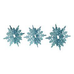 Blue Glitter Snowflakes Centerpiece - OrientalTrading.com