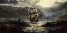 Ghost Pirate Paintings | Ghost Ship by haxxer-design