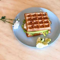 """Ника Ситник🐾 on Instagram: """"Вафли могут быть и не сладкие и из цз муки! На завтрак самое то, после обеда я этим не балуюсь😄"""" Waffles, Breakfast, Food, Morning Coffee, Essen, Waffle, Meals, Yemek, Eten"""