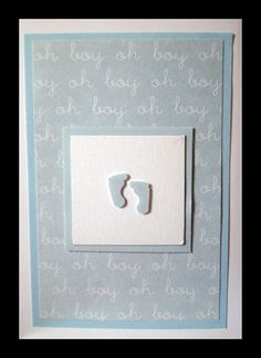 Baby card. Might make this for my grandson. When he gets here