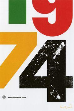 Paul Rand - Westinghouse Annual Report 1974 Design Visual, Web Design, Design Art, Print Design, Interior Design, Illustration Design Graphique, Art Graphique, Editorial Design, Graphic Design Typography