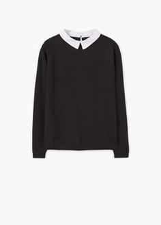 Shirt collar sweater