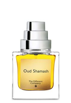 Oud Shamash Eau de Parfum  by The Different Company Oud Shamash  Notes Saffron, cinnamon, pink pepper, davana, rum, Turkish rose, bay rum, cypriol, Laotian oud, cistus absolute, sandalwood, ambergris accord, woody and dry ambery notes, patchouli, leather accord, white musks, Bourbon vanilla, tolu balsam