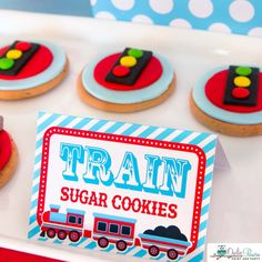 Marie P's Birthday / Trains - Photo Gallery at Catch My Party Trains Birthday Party, Train Party, Birthday Party Themes, Girl Birthday, Disney Cars Party, Truck Cakes, Sugar Cookies, Birthdays, Holiday