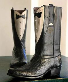 What the well-dressed cowboy wears.  Made by Rocketbuster Boots in El Paso, TX