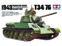 Model Tamiya 35059 Russian tank T34/76 1943 Production Model