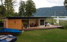 Casa prefabricada / moderna / de madera contrachapada cruzada / de dos niveles - WÖRTHERSEE - KLH Massivholz