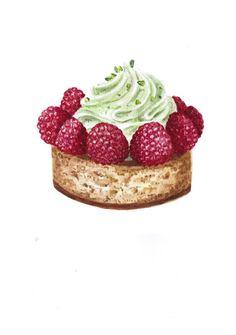 Nastasia - малиновое пирожное