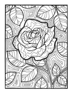 Doodle Coloring Adult Colouring School Pages Color Sheets Zentangle Bullet Journal Flower Power Stuff