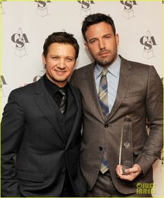 but I also think he looks good in a suit, with Ben Affleck hanging on his arm.  ;)