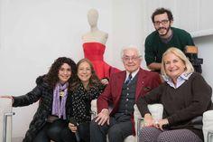 Cinzia Malvini e lo staff de La7 con Roberto Capucci e Daniela Cepparulo