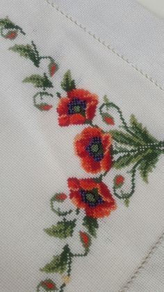 This Pin was discovered by Şeh Cross Stitch Rose, Cross Stitch Borders, Cross Stitch Alphabet, Cross Stitch Baby, Cross Stitch Flowers, Cross Stitch Designs, Cross Stitching, Cross Stitch Patterns, Hand Embroidery Patterns