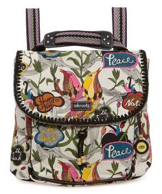 Look at this #zulilyfind! White Peace Convertible Backpack #zulilyfinds
