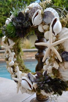 Faux into Spring Succulent & Shell Garden by GreenThumbGarage, $99.00
