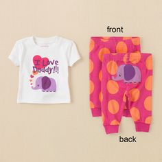 baby girl - sleep & underwear - elephant pj set | Children's Clothing | Kids Clothes | The Children's Place