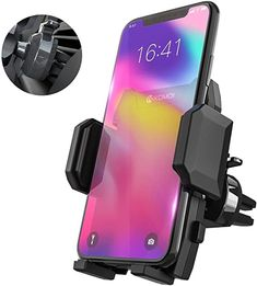 /& Other Smartphones Insten Car Air Vent Cell Phone Holder Mount Compatible with iPhone 11//11 Pro//11 Pro Max//X//XS//XS Max//XR//8//8 Plus//7//7 Plus//6S//Galaxy S10//S10 Plus//S10e//S7 Edge//S7//S8// S8 //S9//S9