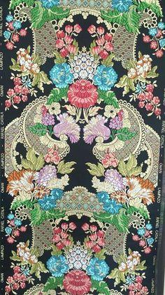 Turkish Design, Japanese Embroidery, Hawaiian Print, New Theme, Fabulous Fabrics, Vintage Floral, Textile Design, Wall Design, Damask