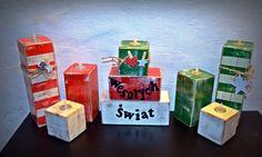 candlestick candle christmas wood block świecznik świąteczny drewniany kostki bloki sosna merry christmas wesołych świąt