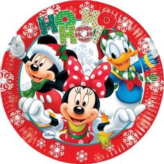 Mickey Mouse and Friends Christmas Party Plates: