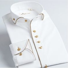 2014-New-Fashion-High-Quality-Cotton-Brand-Shirt-for-Men-Mens-White-Gold-Side-Slim-Fit.jpg (660×662)