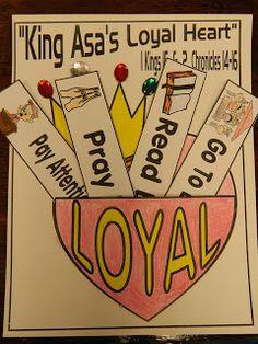 Asa's Loyal Heart, Explorer Journal Activity!! Hands On Bible Teacher