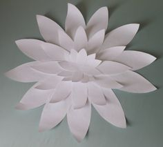 Medium White Paper Flower with Pointed Petals by LizzyandLeslie, $10.00