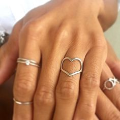 Sterling Silver Heart Ring by JCLDesigns on Etsy, $35.00