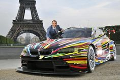 Amazing painted BMW was presented today in Paris, made especially for the 24 Hours Le Mans Race. The BMW that I'm talking about is an GT which was painted by Jeff Koons (an American artist). Jeff Koons, Rembrandt, Jenny Holzer, Roy Lichtenstein, Buick, 2010 Bmw M3, 24 Hours Le Mans, Bmw Design, Automobile