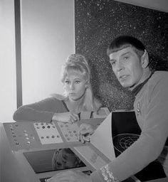 Grace Lee Whitney & Leonard Nimoy, from the early days of Star Trek