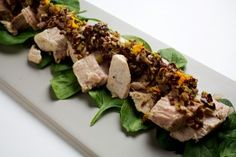 Olive-Oil-Braised Tuna With Orange-Olive Tapenade Recipe Details   Recipe database   washingtonpost.com- Made in the slow cooker!!!