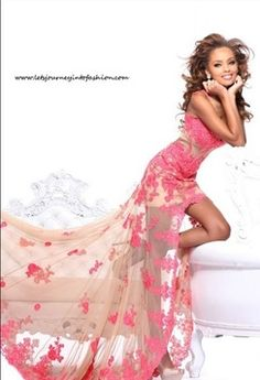 Prom Beautiful Butterfly Open Back Sexy Bandage High Low Dress #prom2014