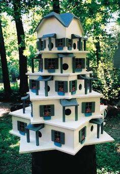 My dad loved his martin house :) Martin Bird House, Purple Martin House, Wooden Bird Houses, Bird Houses Diy, Purple Martin Birdhouse, Birdhouse Designs, Birdhouse Ideas, Bird House Feeder, Bird Feeders