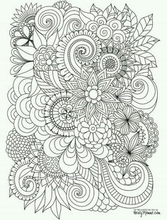 abstract coloring pagesflower coloring pagescolouring in pagesprintable - Printable Colouring In Pages