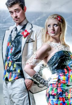 Lindsay and Jarrid, Stuck at Prom Scholarship Contest finalist. #ducktape #prom