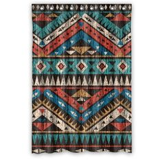 Made Of Waterproof Polyester Fabric With Stylish Designed Pictures. Do Not Bleach Or Tumble Dry. Fitted With C-shaped Curtain Hooks And Has Holes To Which Rings Attach. Soft And Comfortable Handing Feeling , Environmentally Friendly . Shower Curtain Sizes, Bathroom Shower Curtains, Fabric Shower Curtains, Panel Curtains, Southwest Decor, Southwestern Decorating, Southwestern Style, Southwestern Bedding, Western Rooms