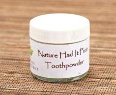 Natural tooth powder